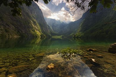 The Obersee lake
