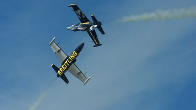 Breitling Jet Team podczas 'Croisement Barrique'