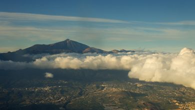 The last look at Teide from the plane. Hope to see you again!